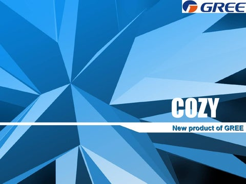Gree Air conditioner Introduction-cozy series by Gree - issuu