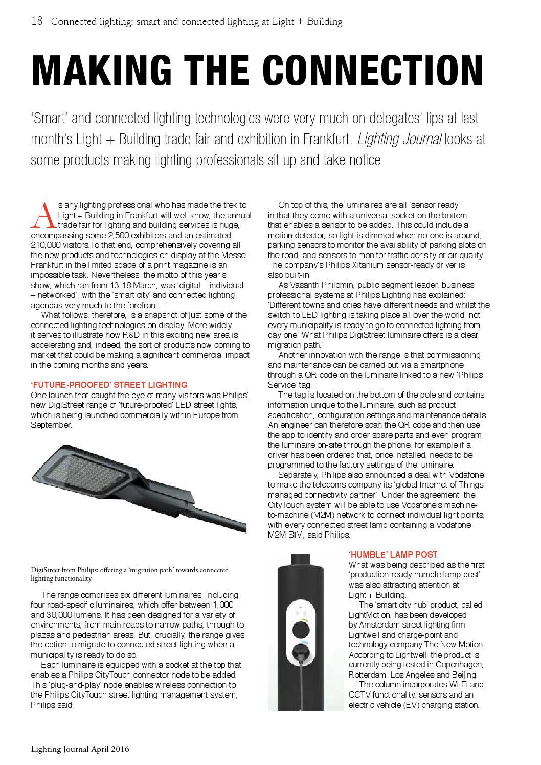 Lighting Journal April 2016 by Matrix Print Consultants Ltd