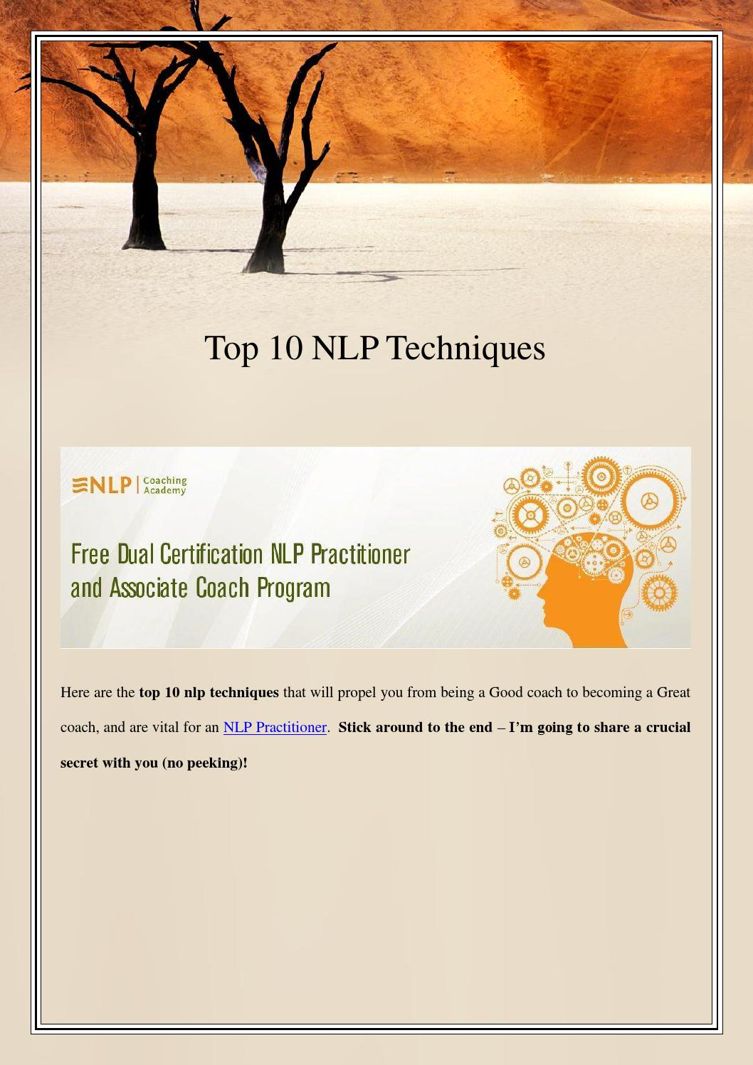 Top 10 nlp techniques by JD Liners - Issuu