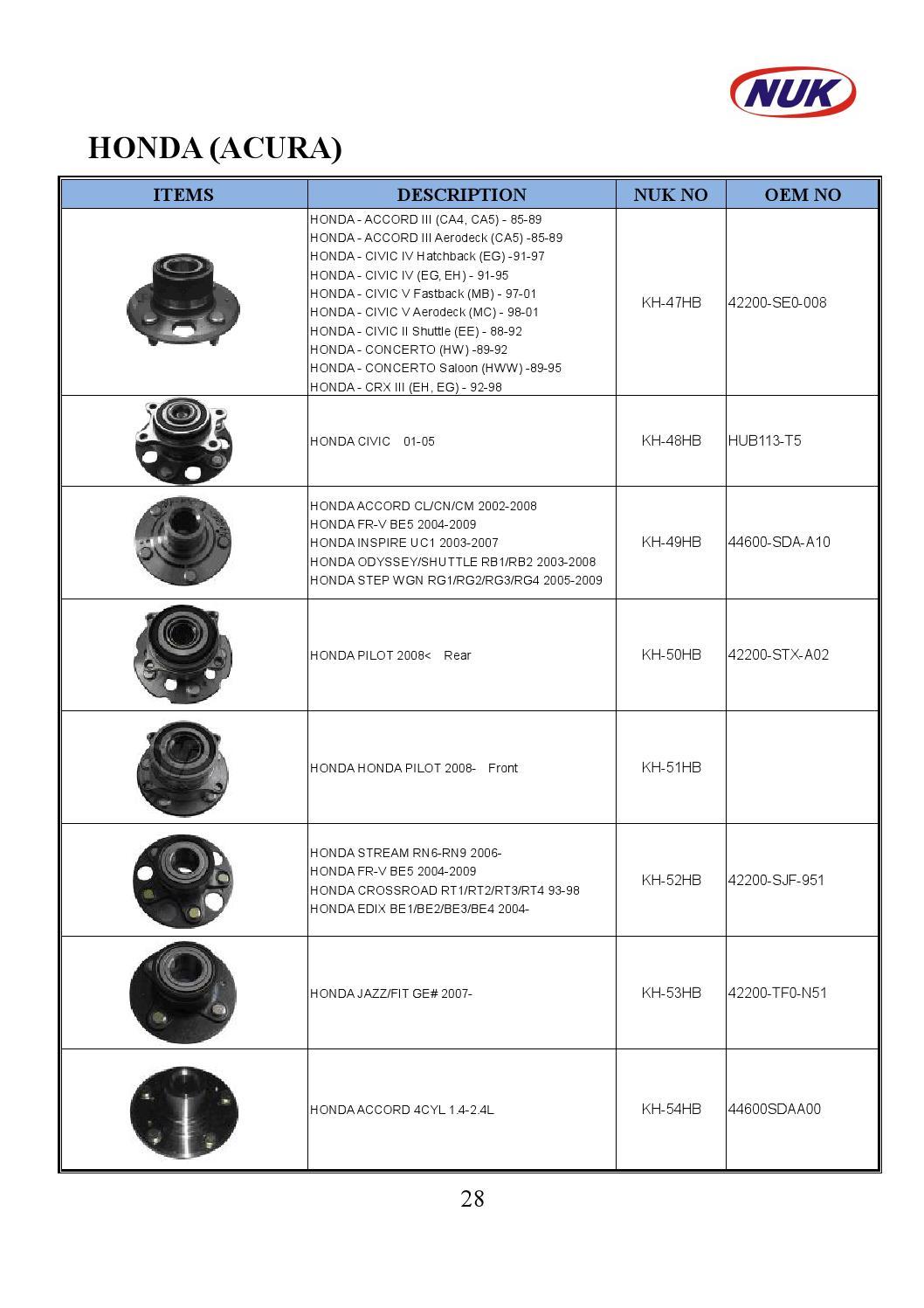 Acura 44600-SDA-A00 Wheel Hub