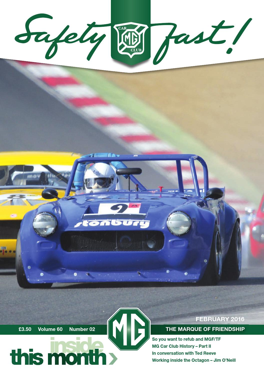 Safety Fast! February 2016 by MG Car Club - issuu