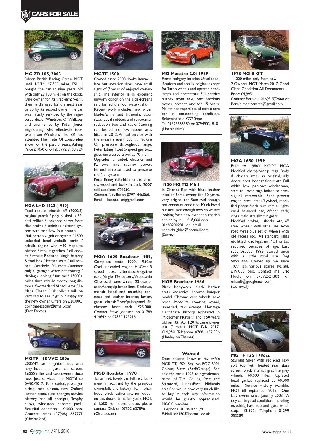 Safety Fast April 2016 By Mg Car Club Issuu