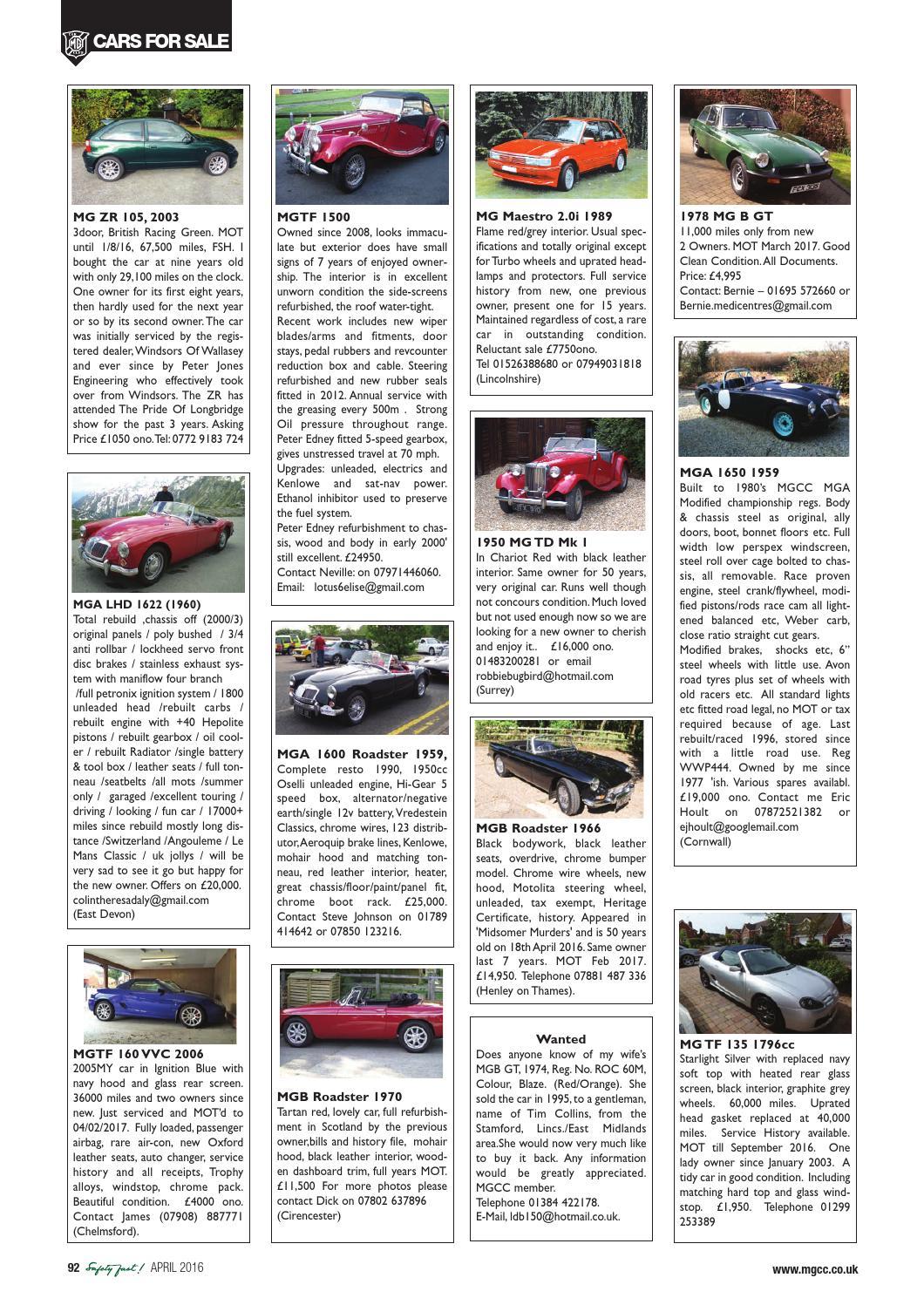 Safety Fast! April 2016 by MG Car Club - issuu