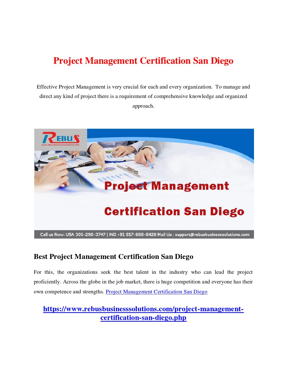 Project Management Certification San Diego By Charlesch01 Issuu