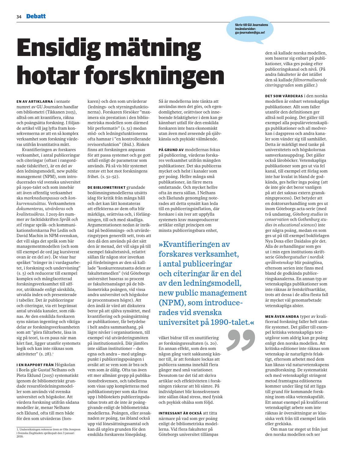 GU-Journalen 2-2016 by University of Gothenburg - issuu 529be47071386