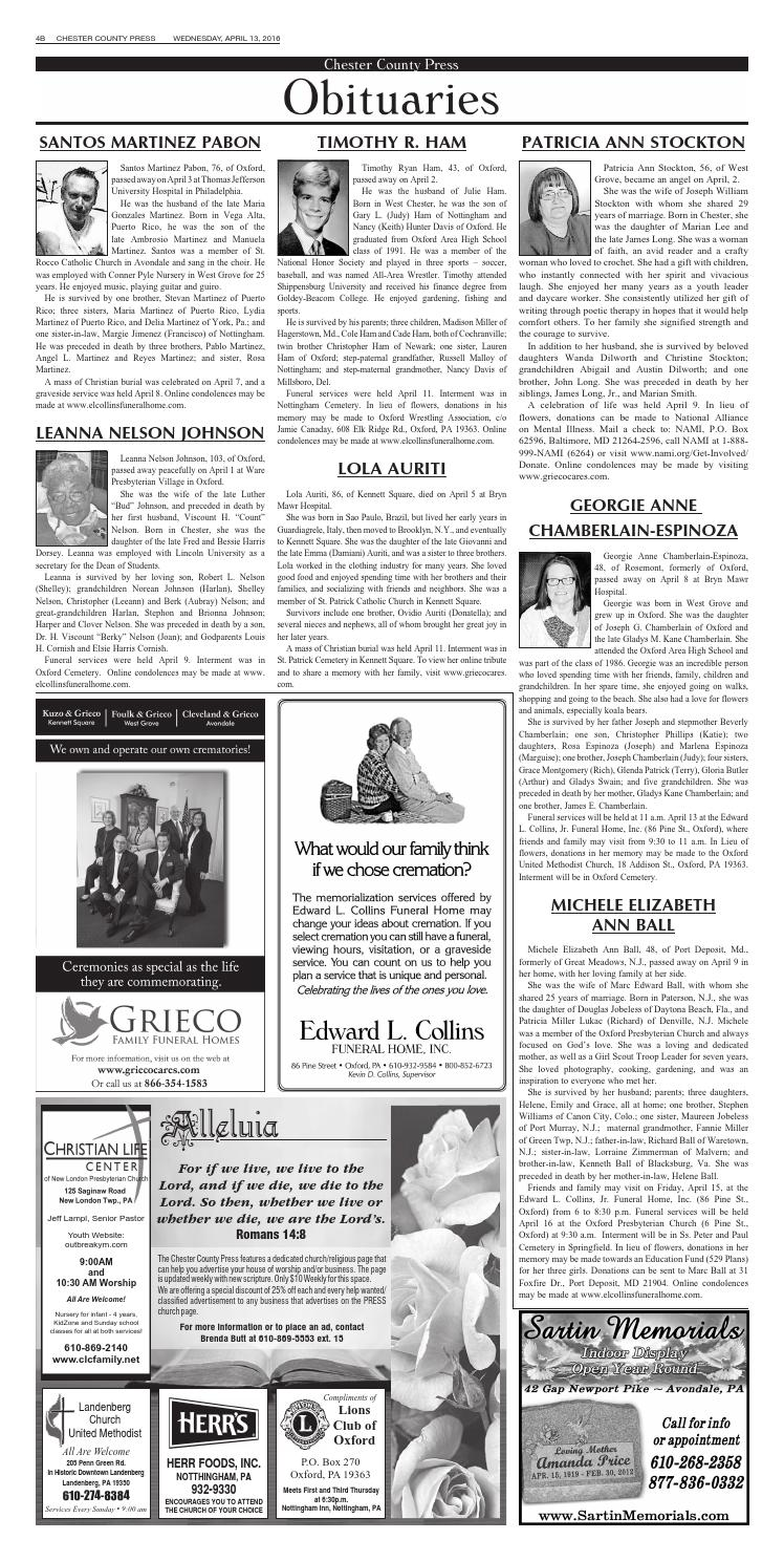 Chester County Press 04 13 2016 Edition By Ad Pro Inc