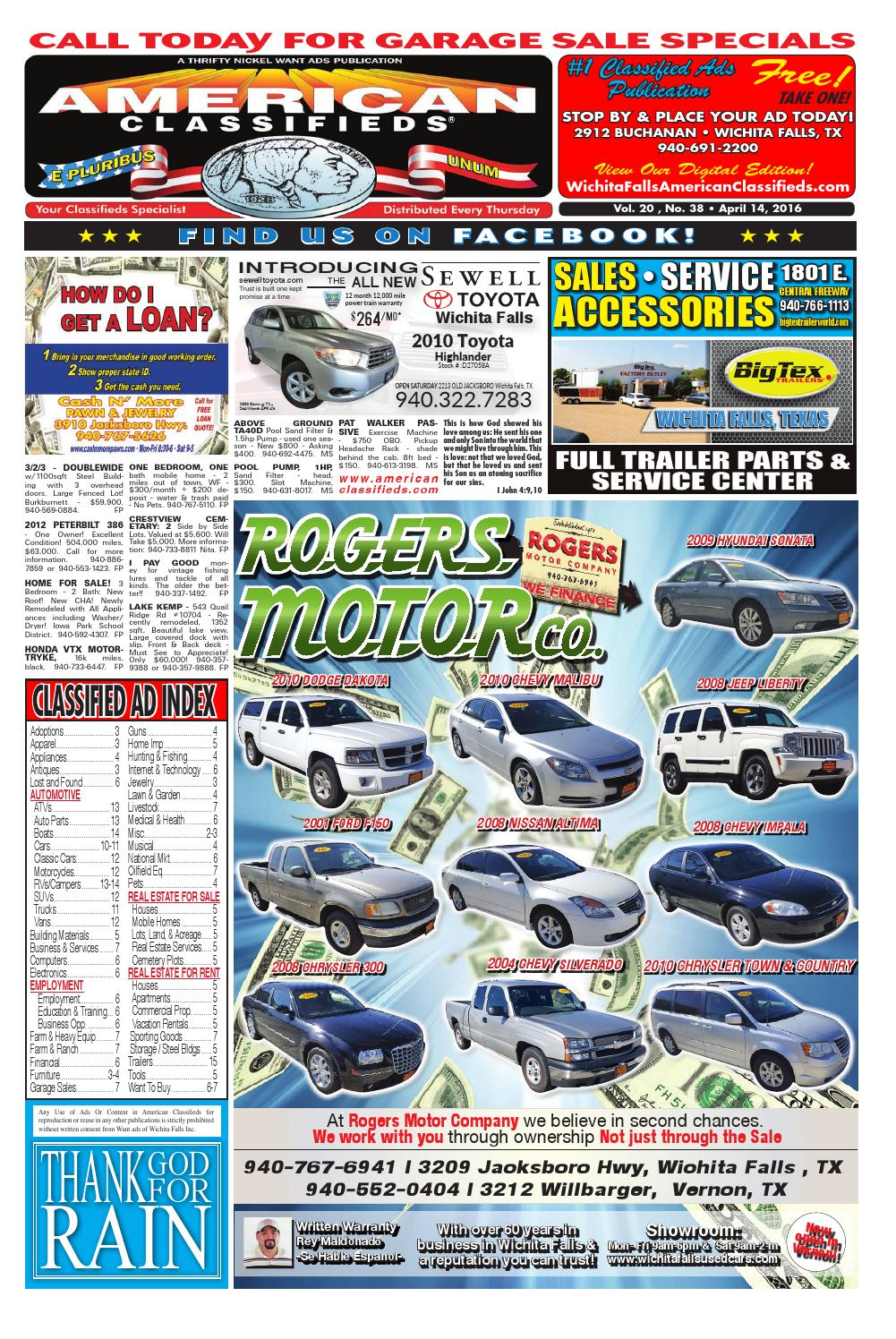 Digital edition 4 14 16 by wichita falls american classifieds issuu fandeluxe Images