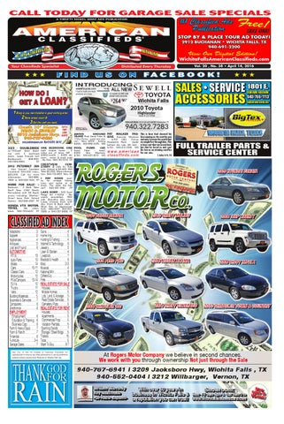 Digital edition 4 14 16 by wichita falls american classifieds issuu page 1 fandeluxe Choice Image
