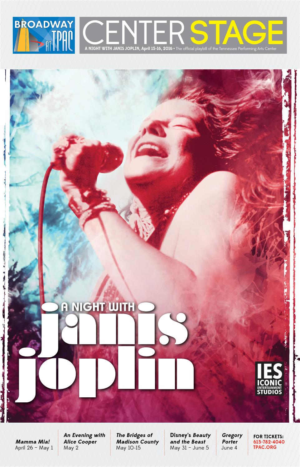 TPAC Presents: A Night with Janis Joplin by Performing Arts