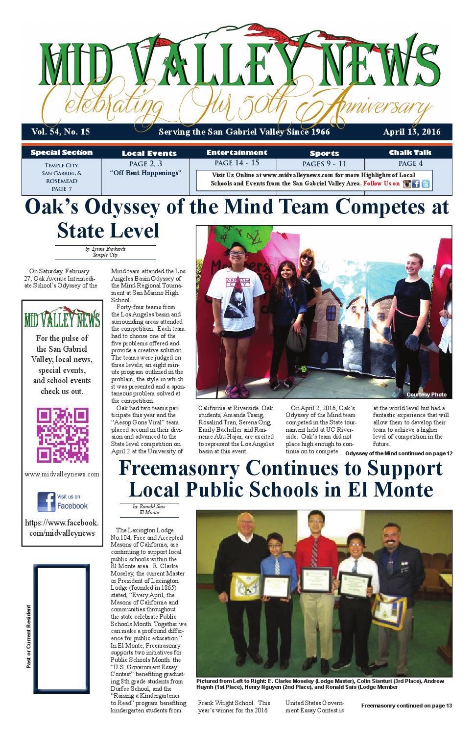 Mid Valley News April 13, 2016 by Mid Valley Media Center - issuu