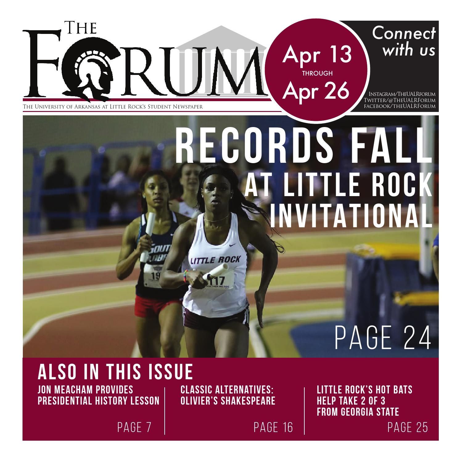 April 13 Edition by UALR Forum - issuu