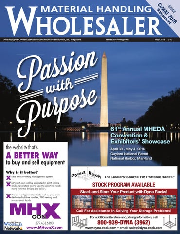 Material handling wholesaler may 2016 by material handling page 1 fandeluxe Choice Image