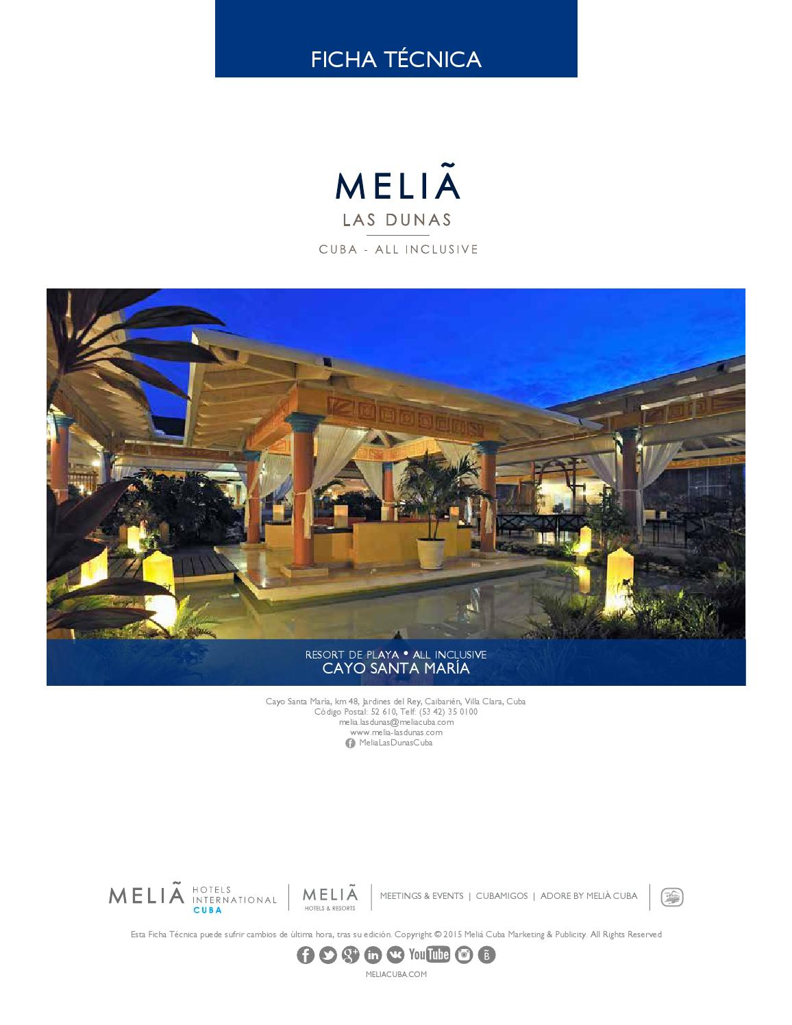Ficha Técnica Hotel Meliá Las Dunas By Erick Issuu