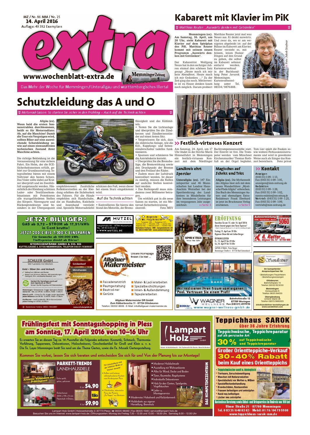 Extra Memmingen Vom Donnerstag 14 April By Rta Design Gmbh Issuu