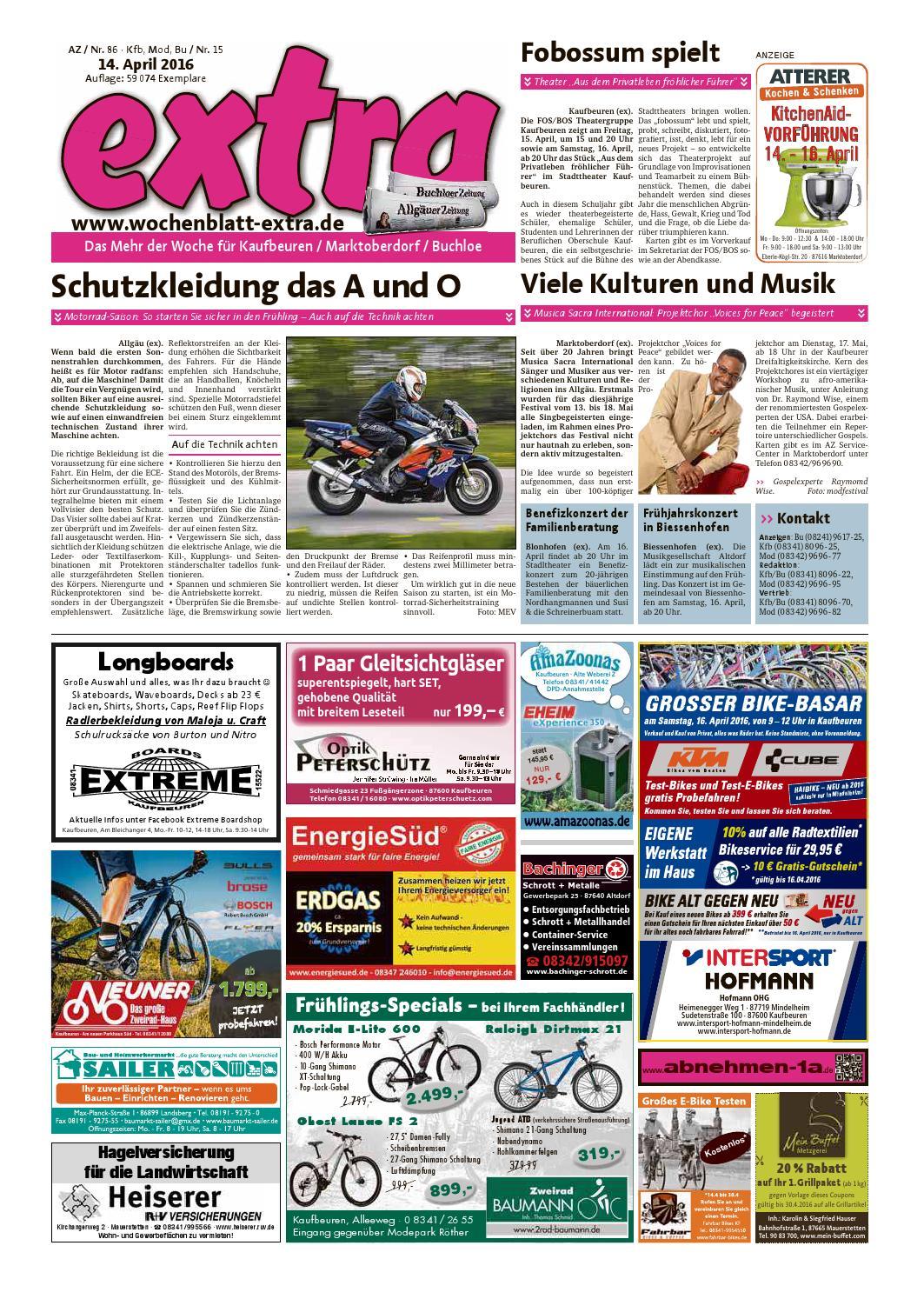 Extra Kaufbeuren Vom Donnerstag, 14. April By Rta.design GmbH   Issuu