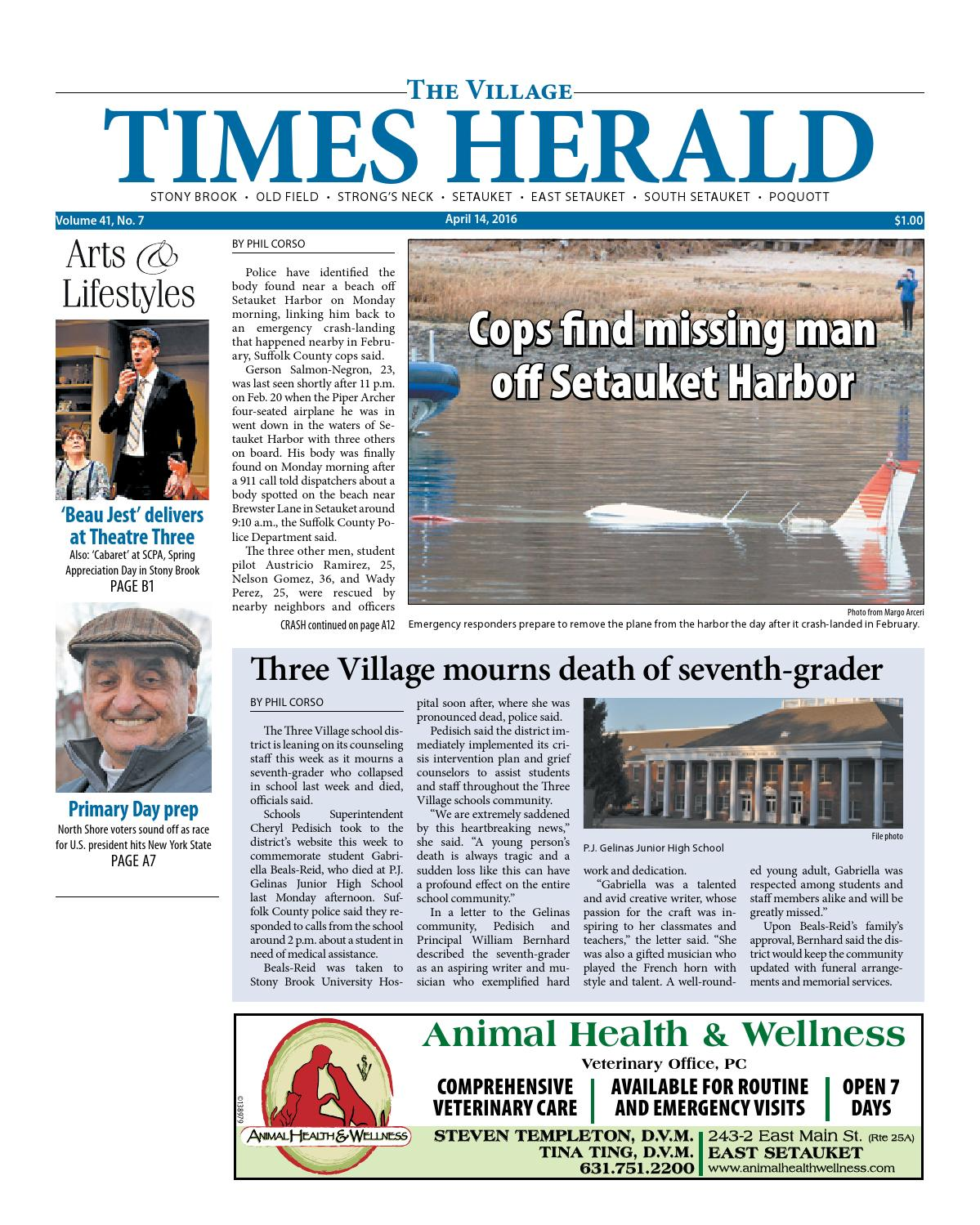The Village Times Herald - April 14, 2016 by TBR News Media - issuu