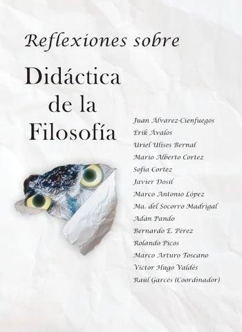 Reflexiones sobre didáctica de la filosofía by Silla vacía Editorial ...
