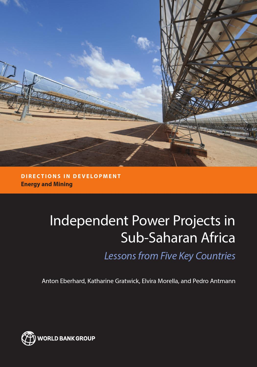 development project proposal template%0A Independent Power Projects in SubSaharan Africa by World Bank Publications   issuu