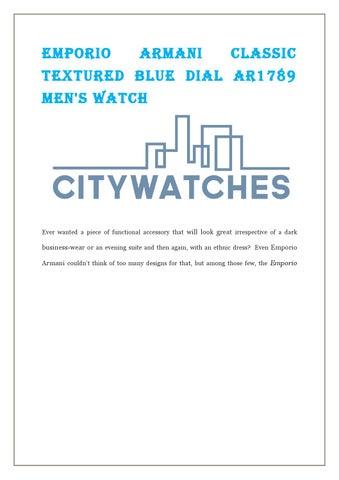 e1fd42894671 Emporio armani classic textured blue dial ar1789 men s watch