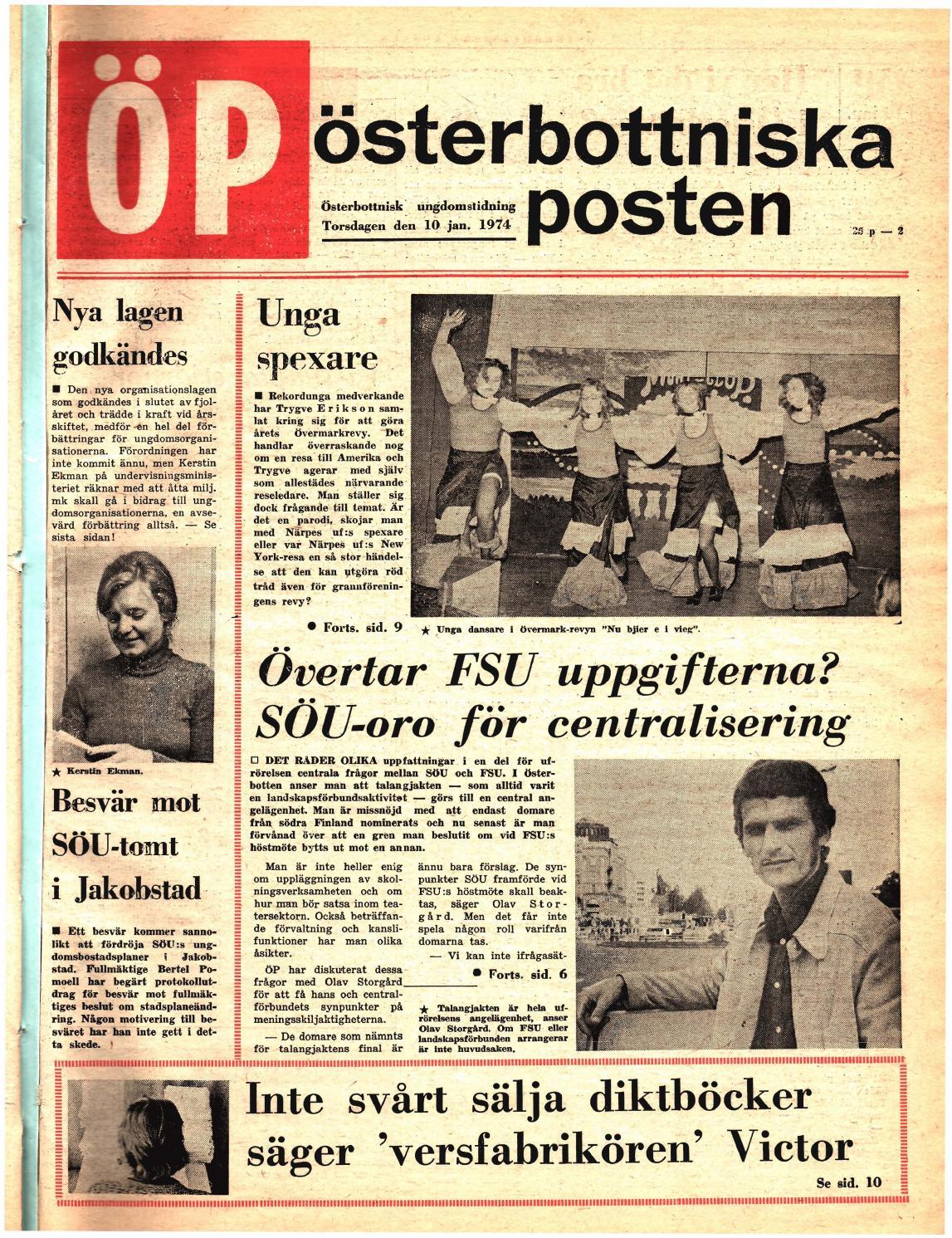 info for 12bcf 5c109 Österbottniska Posten (ÖP) nr. 2 1974 by Österbottniska Posten - issuu