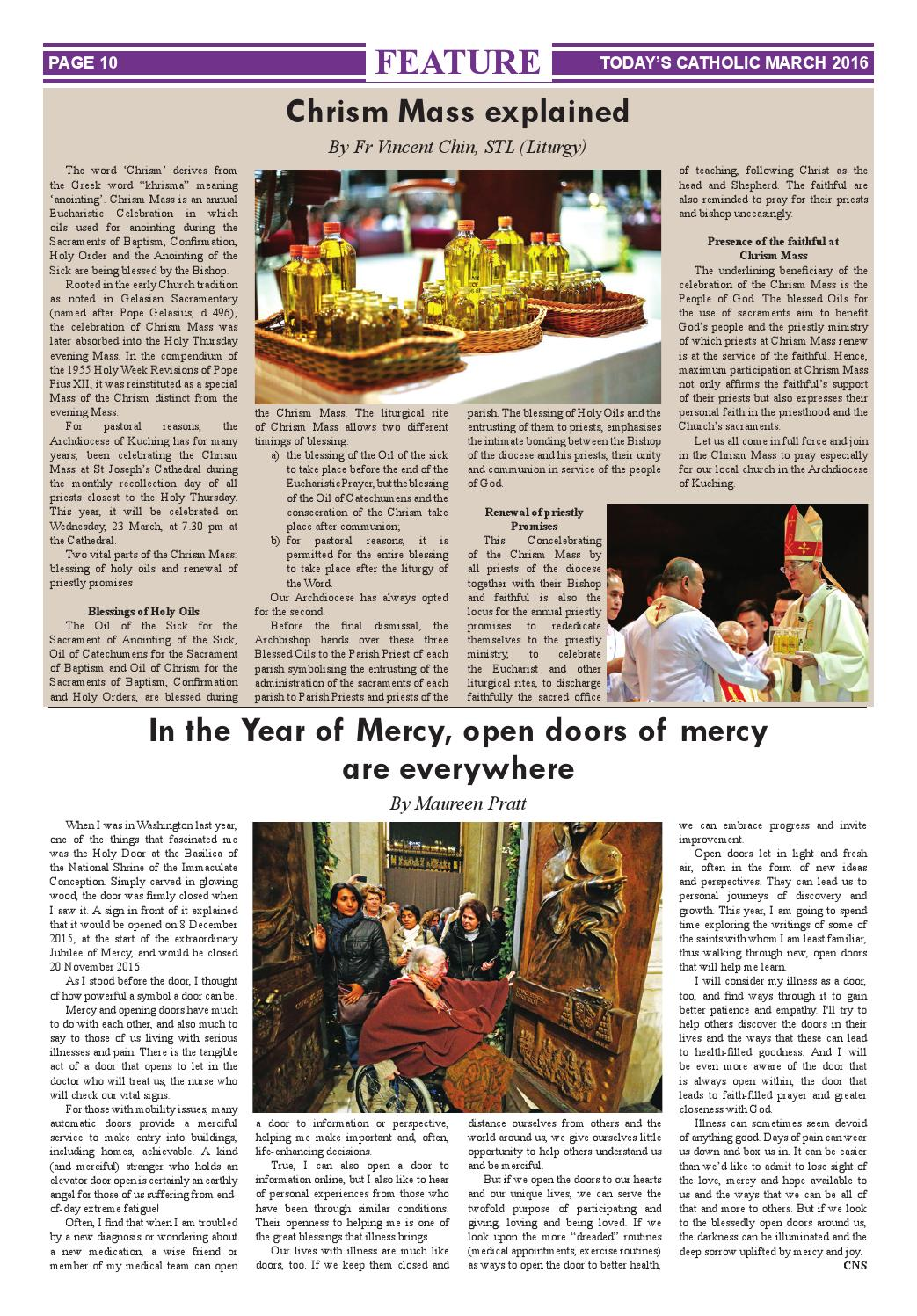 Today's Catholic Vol 27 No 11 March 2016 by Todays Catholic - issuu