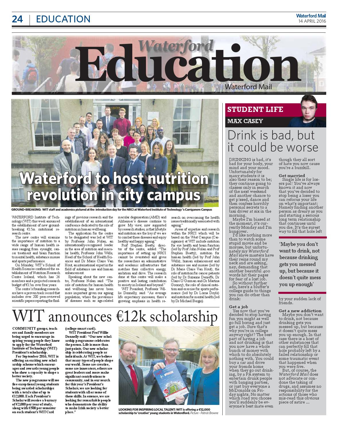 WaterfordMail04142016 by Kilkenny Reporter - issuu