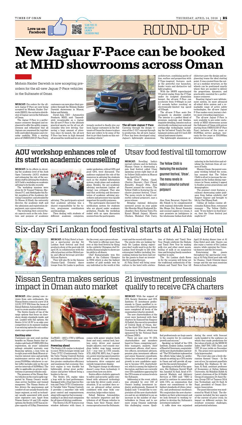 Times of Oman - April 14, 2016 by Muscat Media Group - issuu