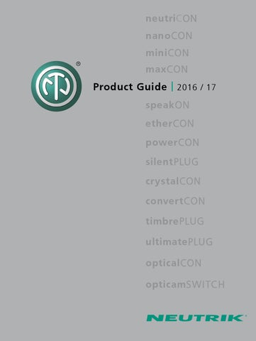 Neutrik Product Guide by Velleman NV - issuu on