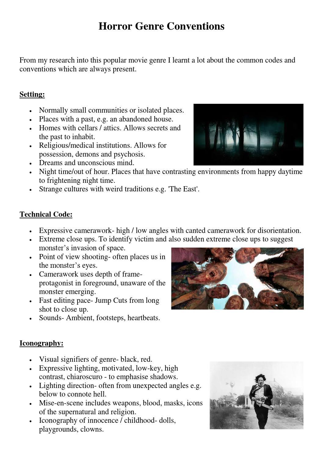 Horror genre conventions by maia brett - issuu