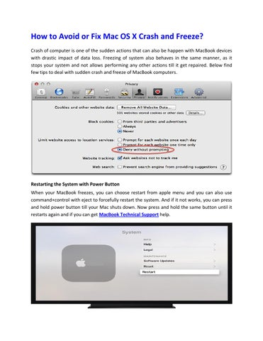 about this mac crash fix