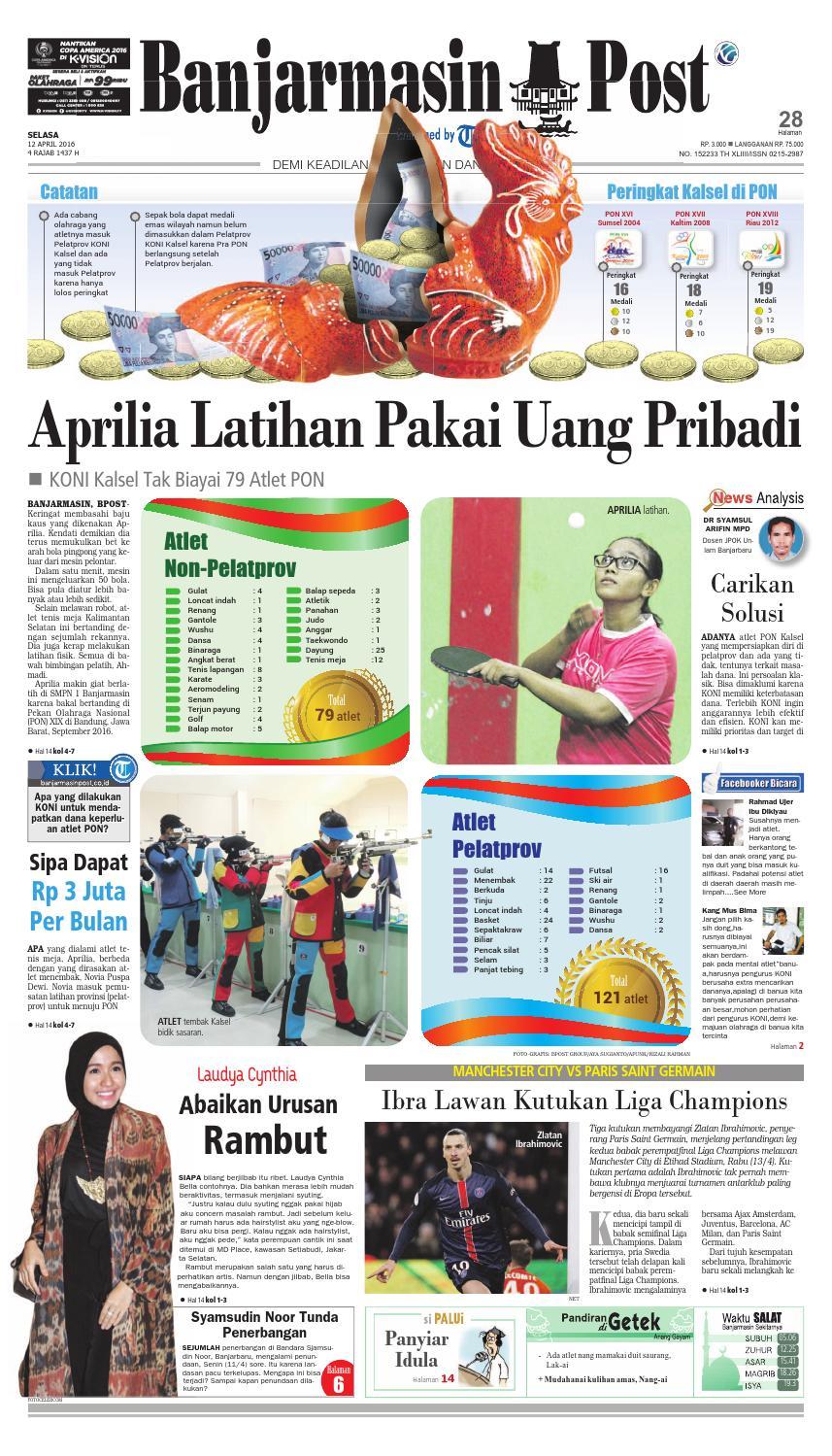 Banjarmasin Post Selasa 12 April 2016 By Issuu Kartu Kemat Listrik