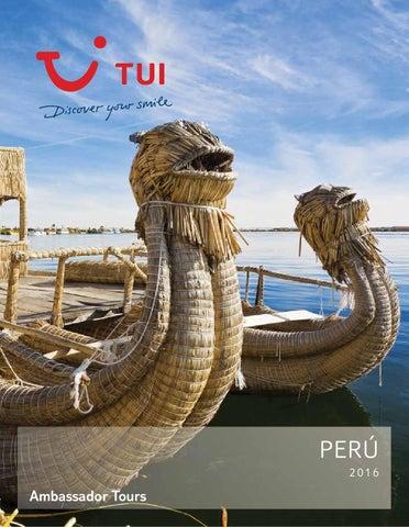 Catálogos Royal Vacaciones Ambassador tours peru 2016