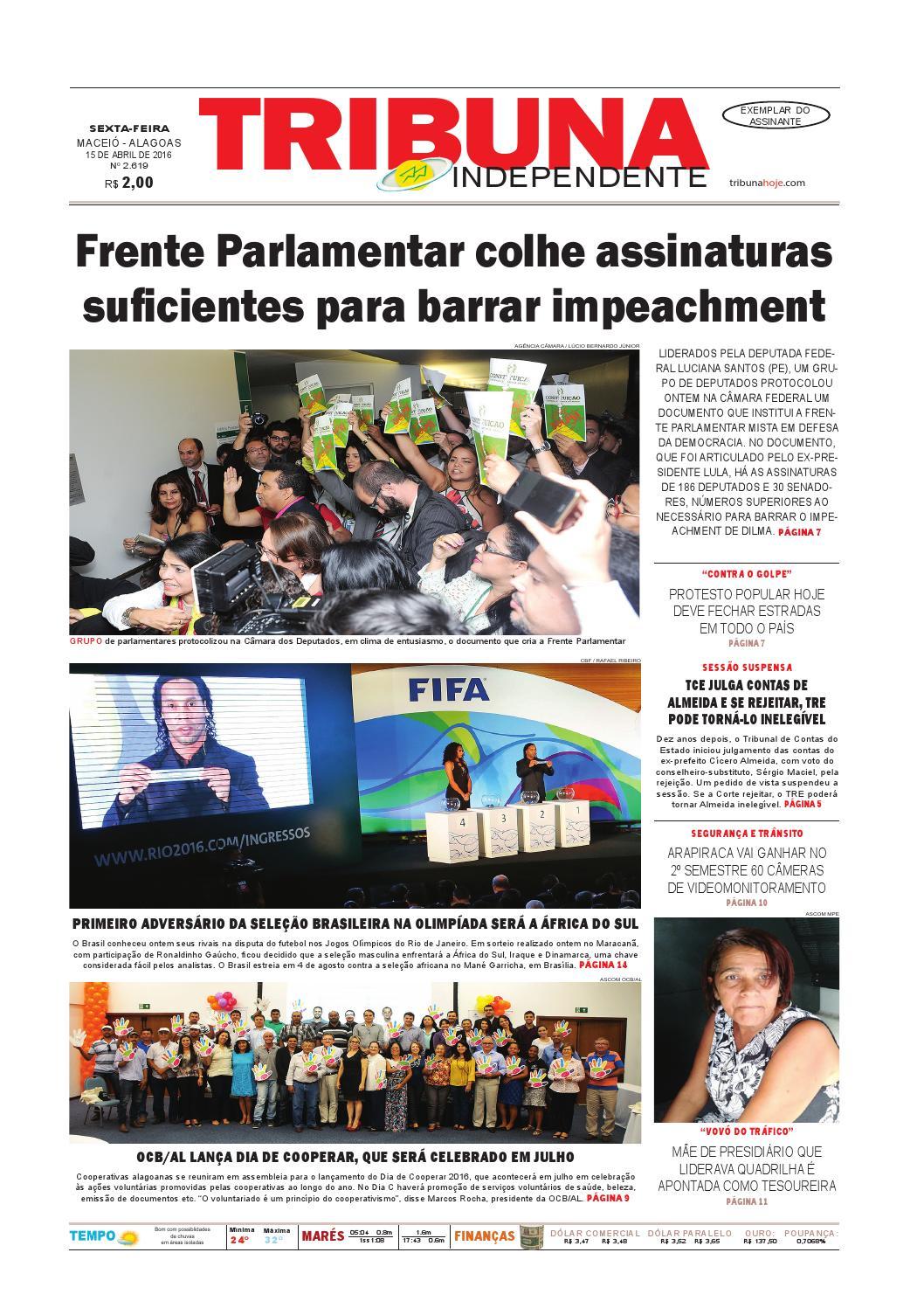 9933e610cd2d9 Edição número 2619 - 15 de abril de 2016 by Tribuna Hoje - issuu