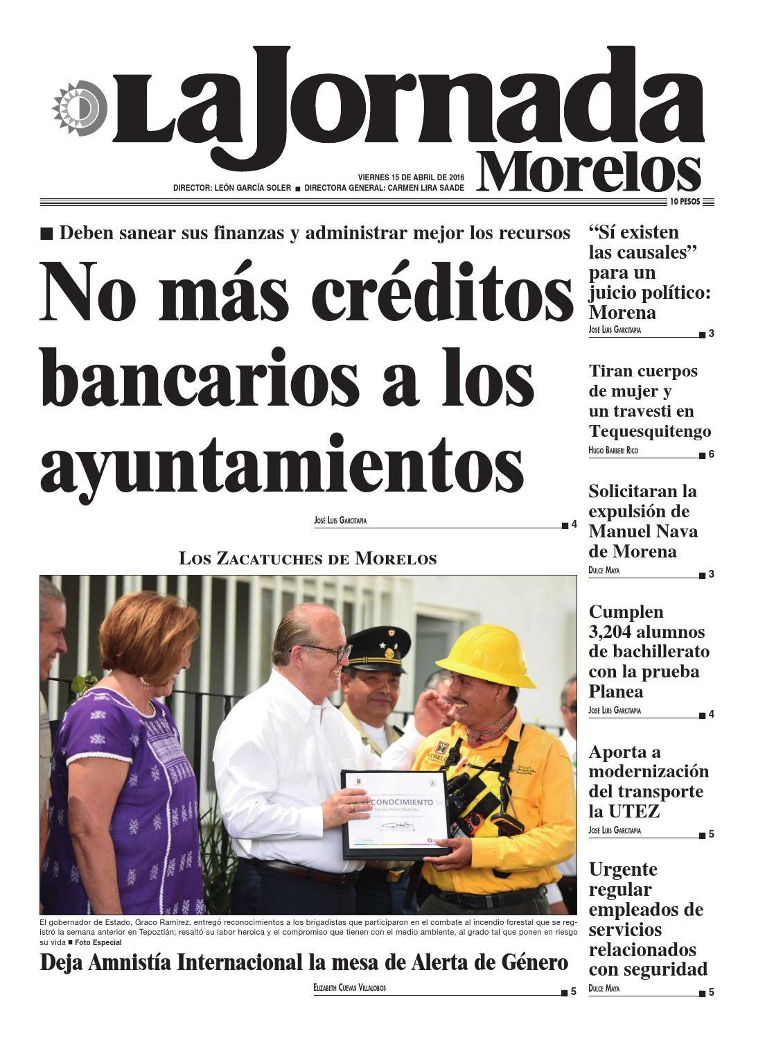 La Jornada Morelos (abril 15) by Gerardo Barreto - issuu 791752c26b0a2