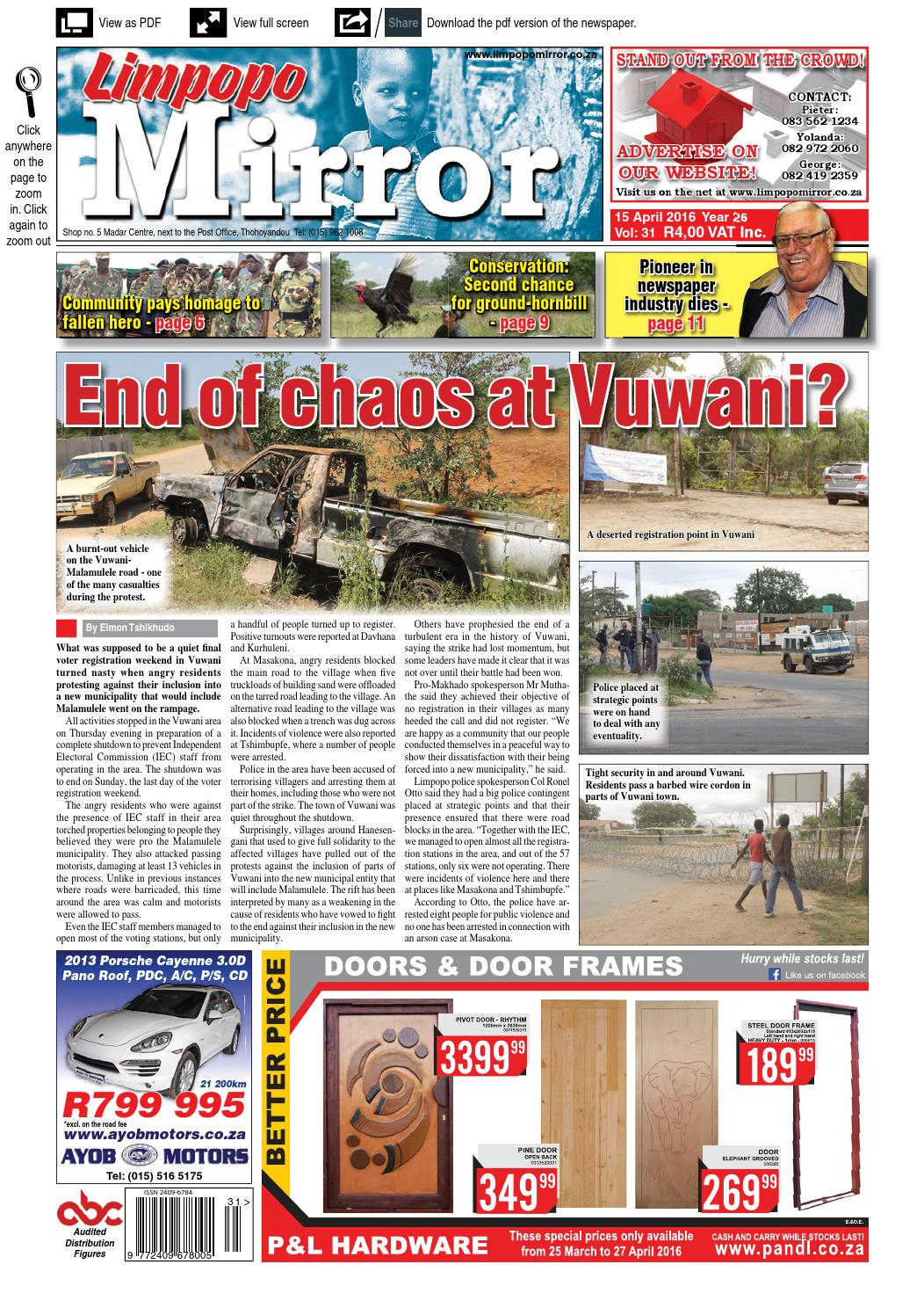 Limpopo Mirror 16 April 2016 By Zoutnet Issuu