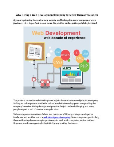 Web Designing And Development Company In Noida By Williamrose001 Issuu
