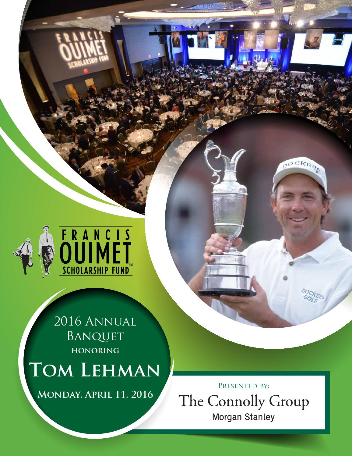 2016 Ouimet Banquet Program Book by Francis Ouimet Scholarship Fund - issuu