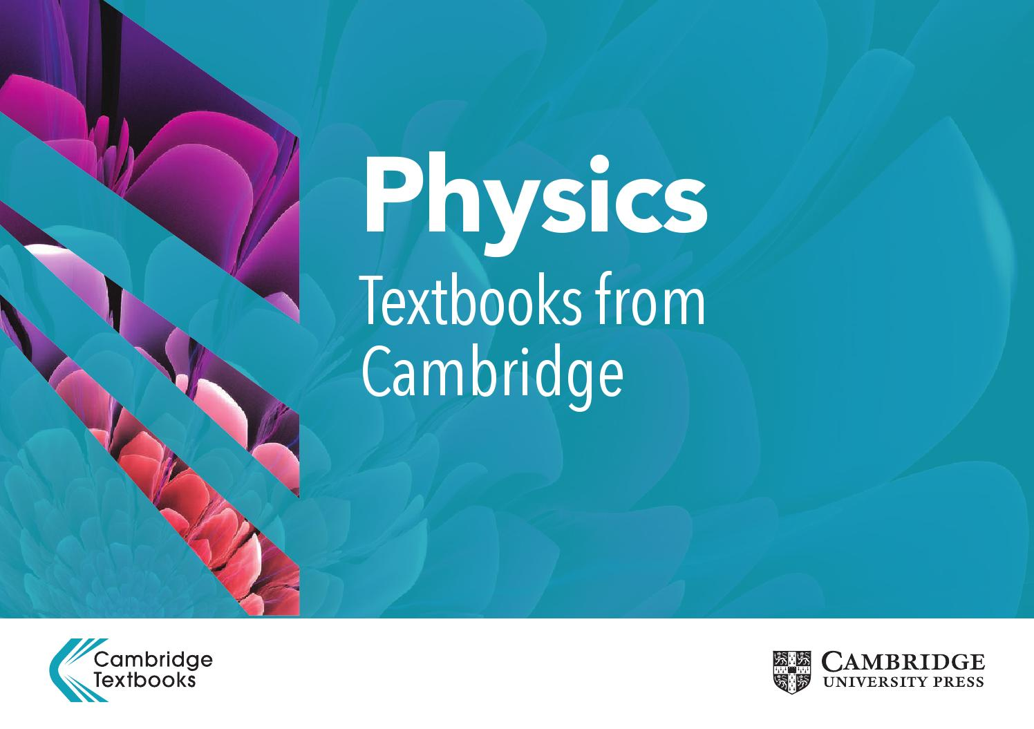 Physics Textbooks from Cambridge by Cambridge University Press - issuu