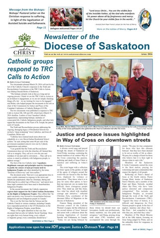 Spring 2016 Newsletter Of The Diocese Of Saskatoon By Roman Catholic
