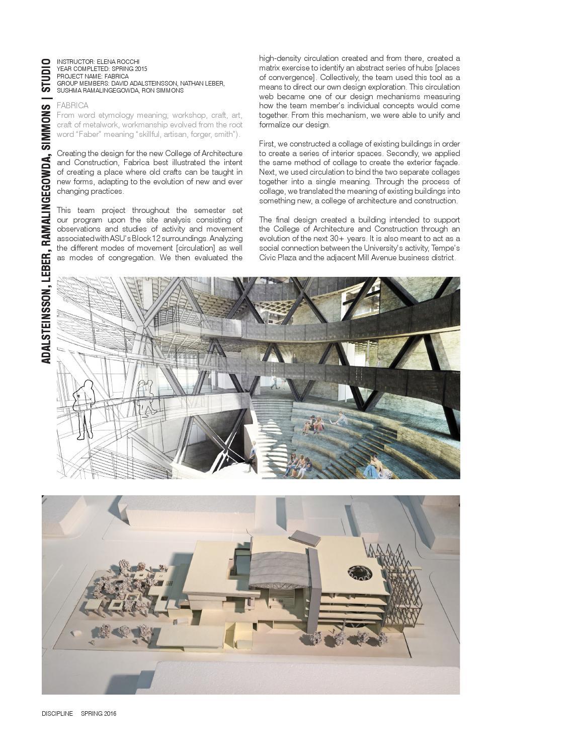 Discipline Asu Architecture Journal 02 By The Design School Asu