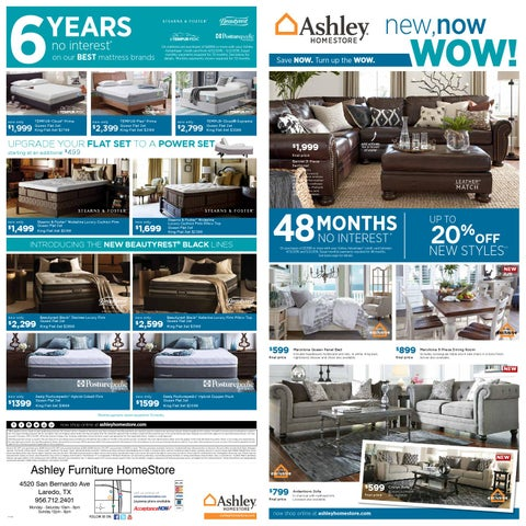 New Now Wow By Ashley Furniture Homestore Of Laredo Issuu
