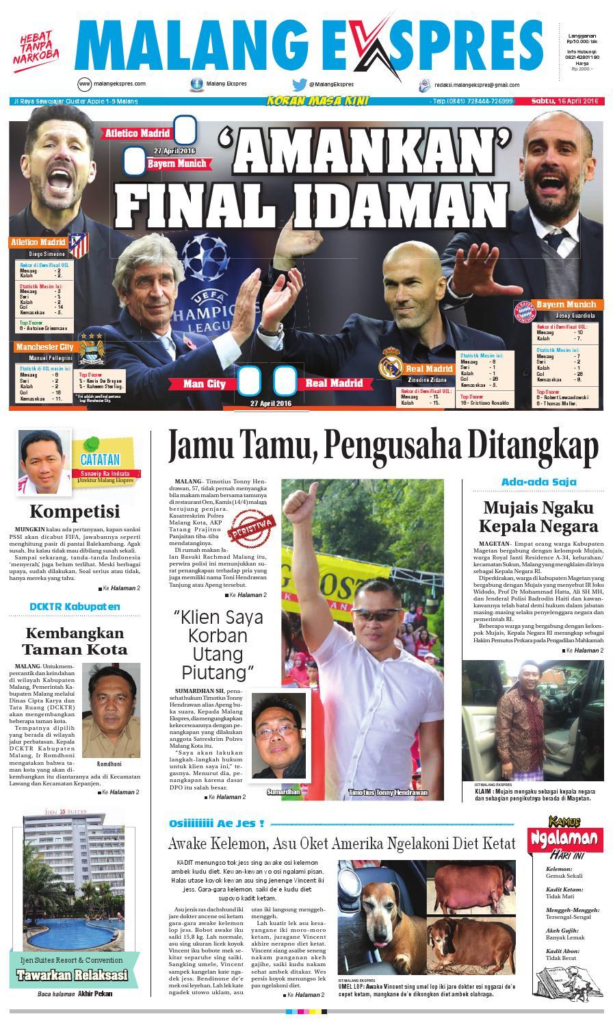 Malang Ekspres Ed Sabtu 16 April 2016 By Koran Produk Ukm Bumn Kain Batik Eksklusif Lasem Manuk Masa Kini Issuu