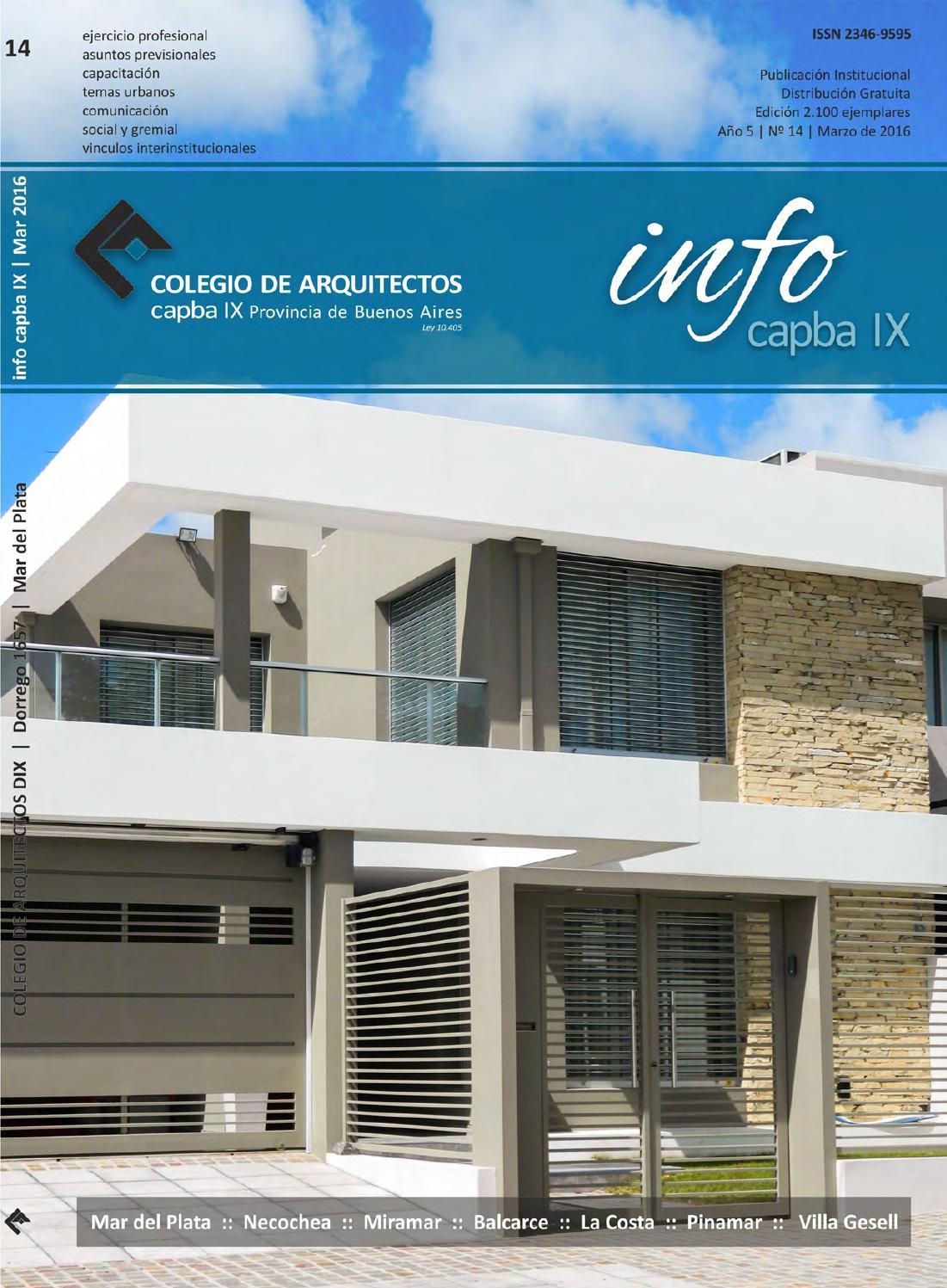 Info Capba Ix Edición 14 By Colegio De Arquitectos De La
