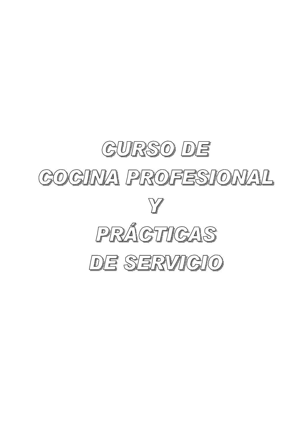 Anon curso de cocina profesional by Maurisio Aguilar - issuu