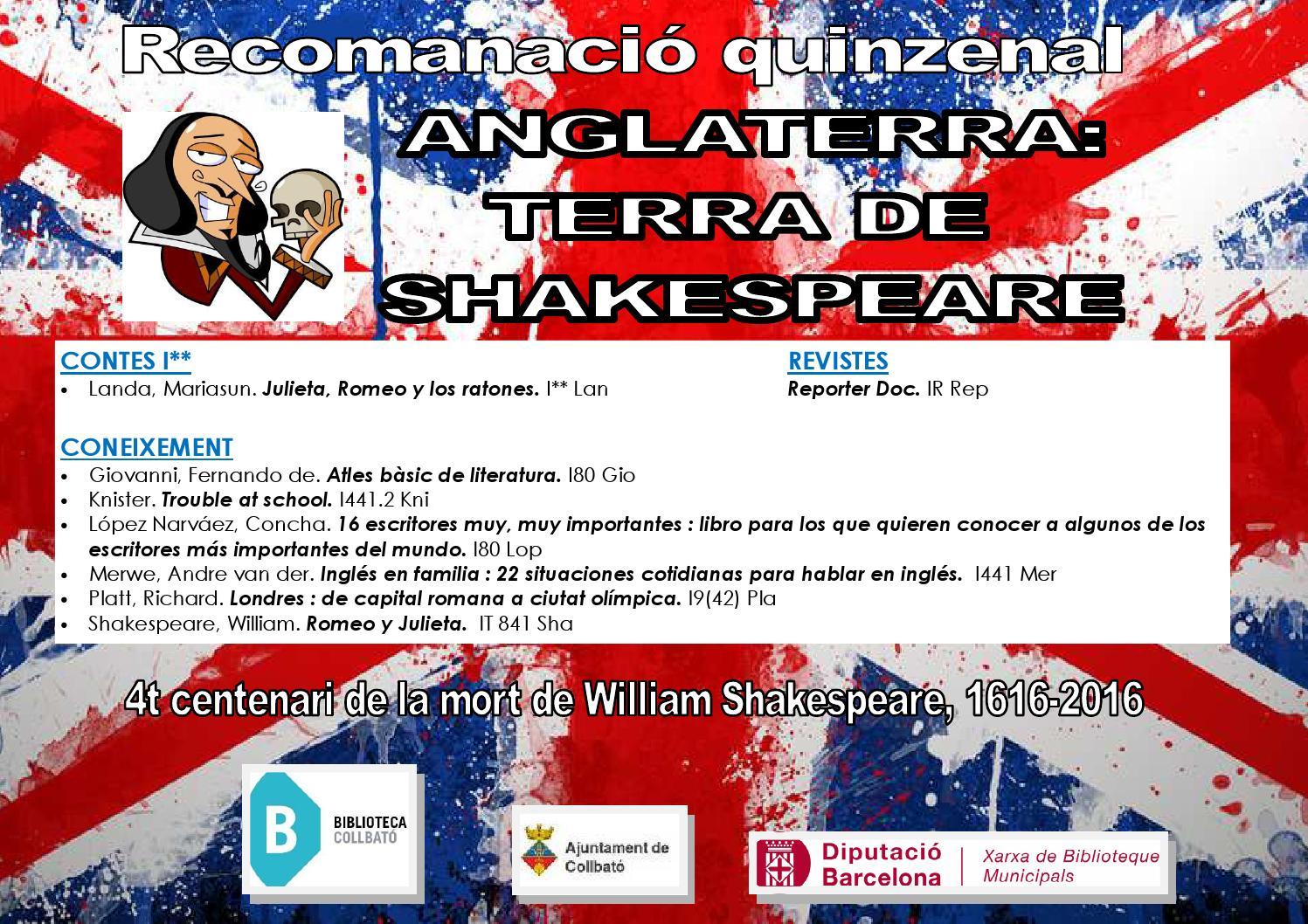 20160415 shakespeare inf by Biblioteca de Collbató - issuu
