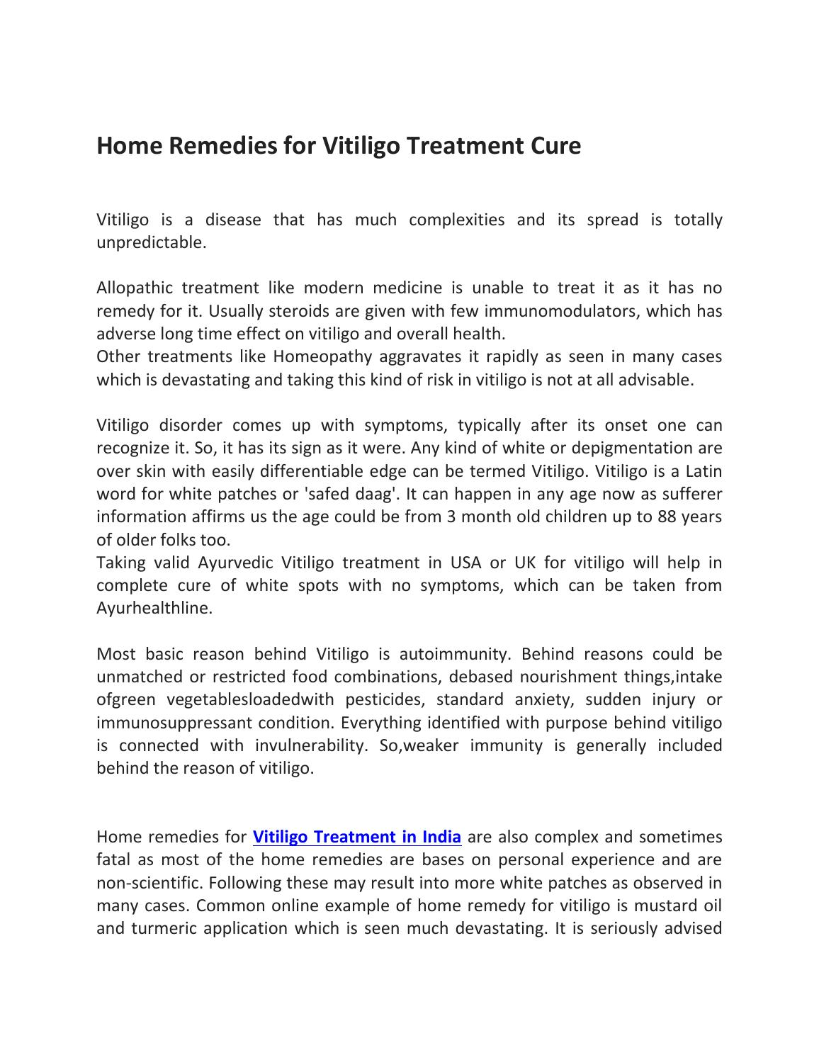 Home Remedies For Vitiligo Treatment Cure By Ravish Kamal Issuu