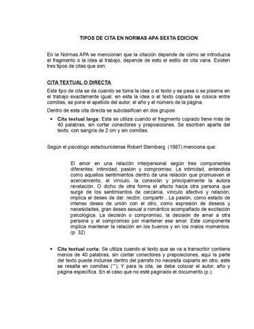 Tipos De Cita En Normas Apa Sexta Edicion By Fernanda