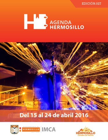 "Cover of ""Agenda Hermosillo 15 abril 2016"""