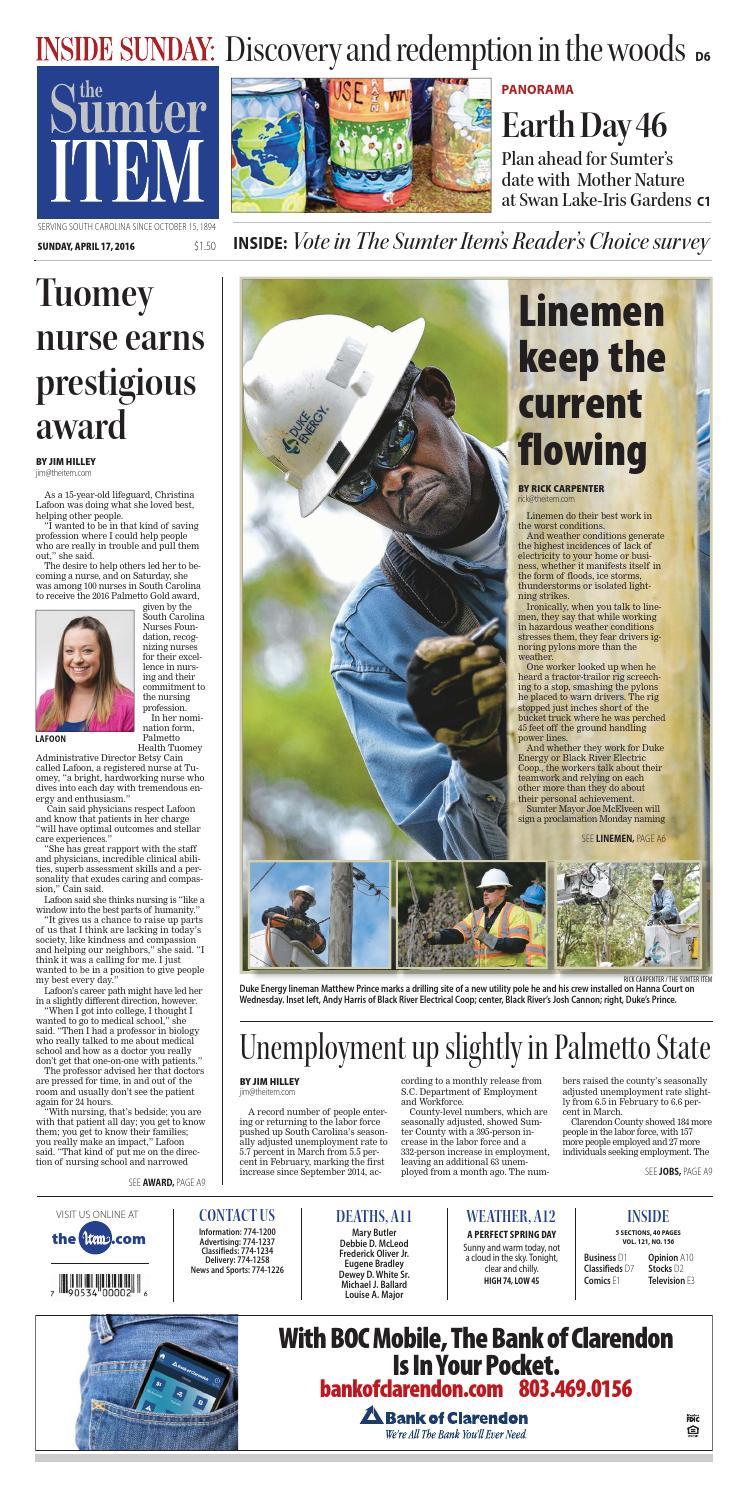 April 17, 2016 by The Sumter Item issuu