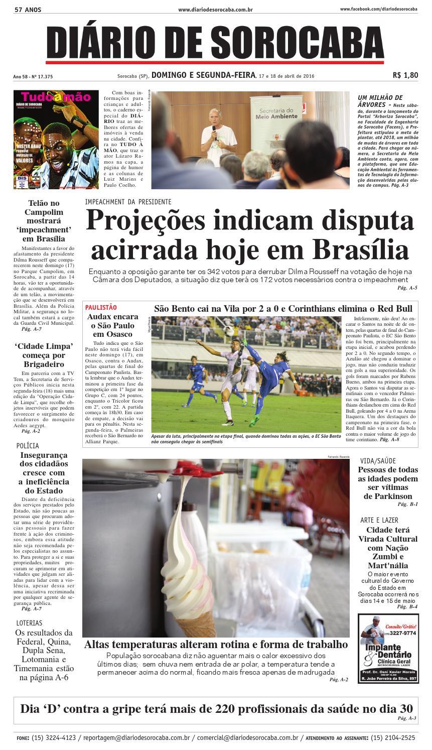 740a566710 Edição de 17 de março de 2017 by DIÁRIO DE SOROCABA - issuu